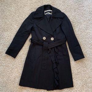 Elie Tahari Trench Coat in Black Size 2